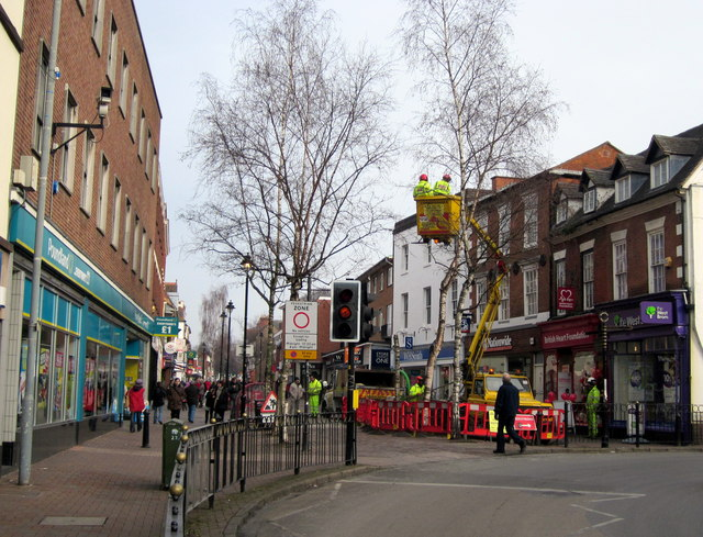 Bromsgrove Town Centre Improvements, Tree Felling