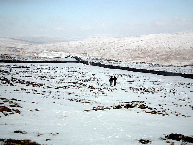 Walkers descending from Park Fell