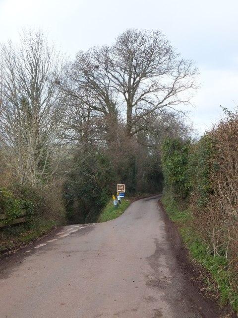 Slip road to Linhay and Weston Farm
