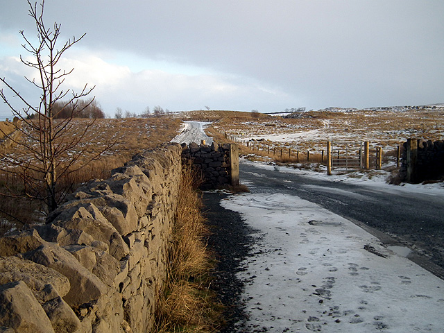 The road into Ribblehead Quarry