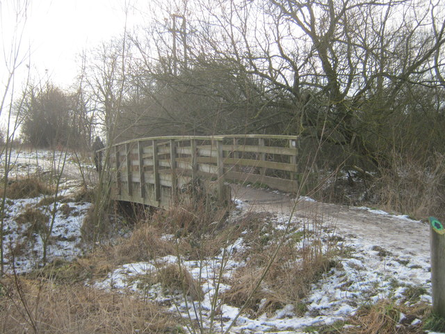 Footbridge over Coatham Beck in Coatham Wood