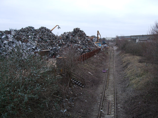 EMR scrap yard and disused GWR Highworth branch line