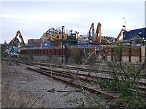 SU1686 : Metal recycling at the EMR scrapyard, Gipsy Lane by Vieve Forward