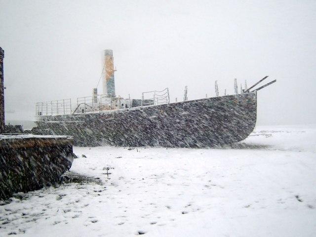 Vadne in snow, April 2008