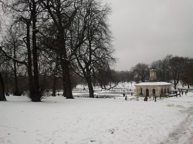 Hyde Park in the snow