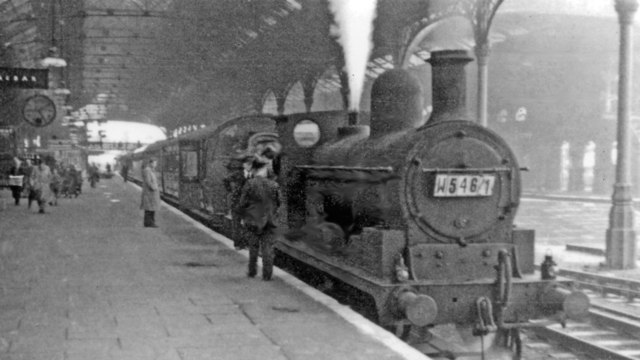 Old L&Y 0-6-0 on Up express at Preston