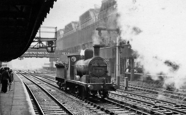 Ex-L&Y 0-6-0 runs westward at Manchester Victoria