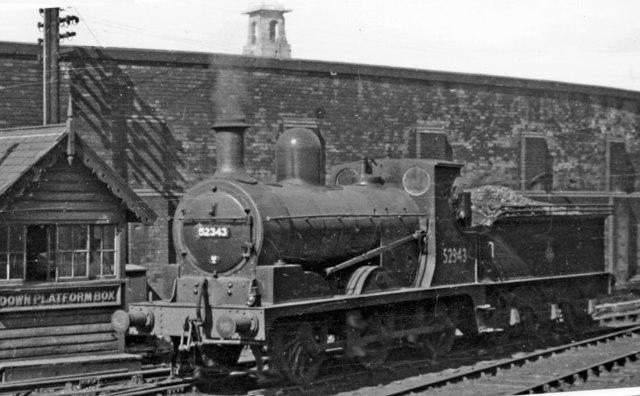 Ex-L&Y 0-6-0 at Rochdale station