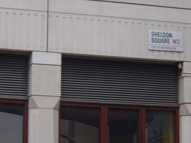 Street sign, Sheldon Square W2