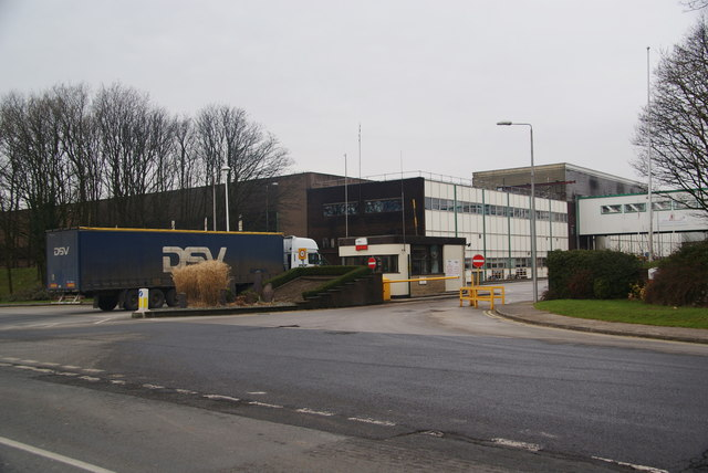 The entrance to Samlesbury Brewery