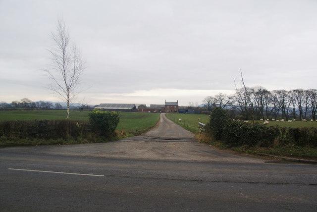 The entrance to Roacher Hall Farm