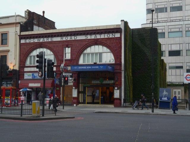 Bakerloo Line entrance, Edgware Road Underground Station, Edgware Road NW1