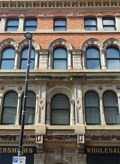 Detail of 75-77 High Street, Manchester