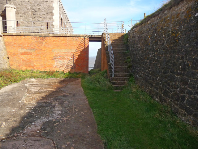 Brean Down - Brean Down Fort Dry Moat