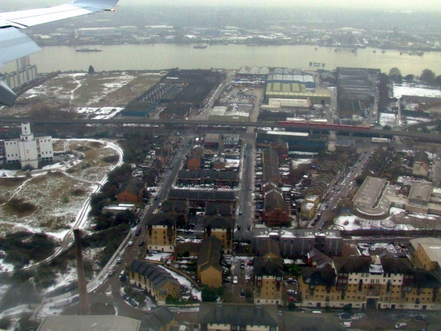 Silvertown from the air