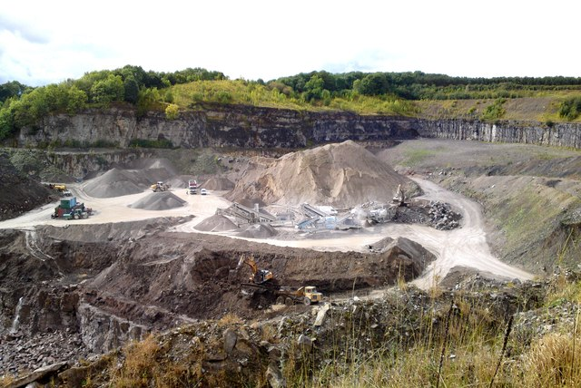 Shining Bank Quarry, between Bakewell and Youlgreave, Derbyshire
