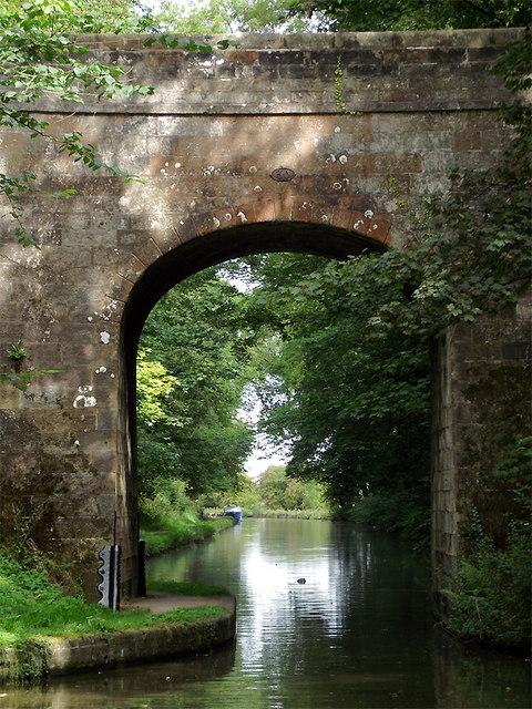 Shropshire Union Canal at Castle Cutting Bridge near Gnosall