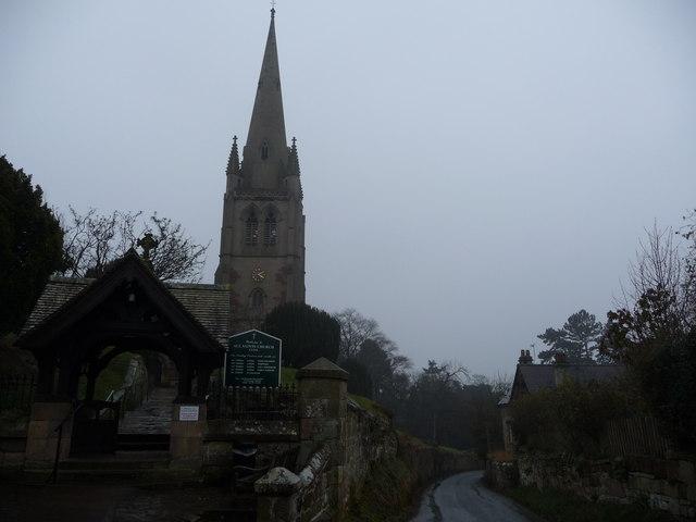 All Saints church in Clive, Shropshire