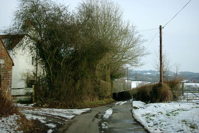 Steep Road at Pinehurst Farm