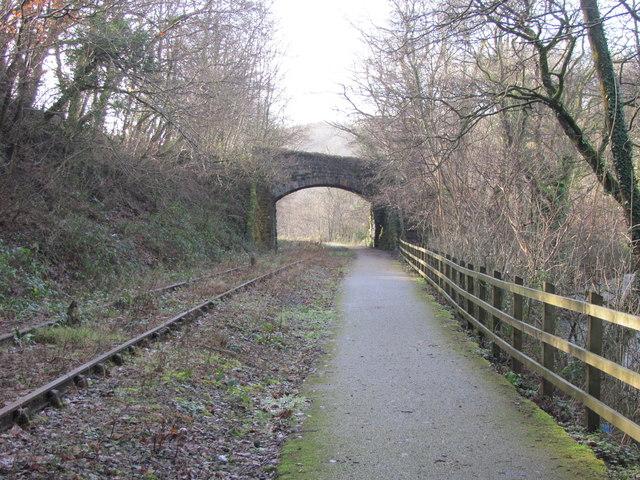 Cycle path alongside disused railway