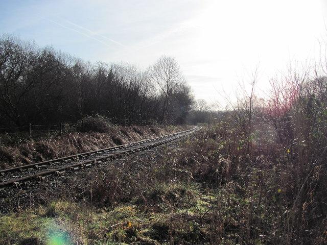 Disused railway line near Brynmenyn