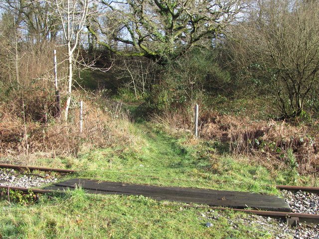 Public footpath crossing over disused railway