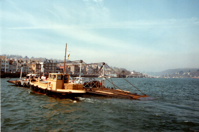 Kingswear and Lower Ferry Passing 1984