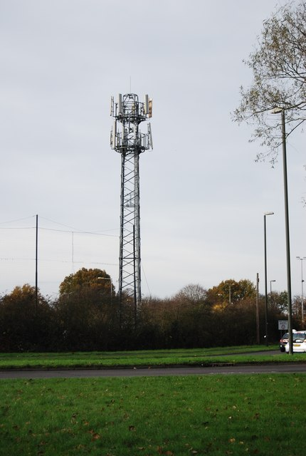 Telecommunication mast near Broadfield Stadium