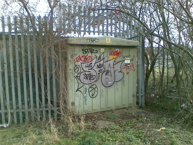Graffiti on Electricity sub station