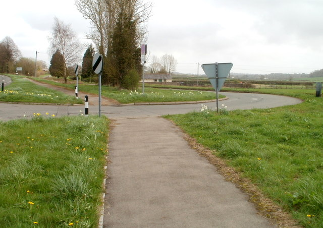 A48 pavement at the Caerwent junction