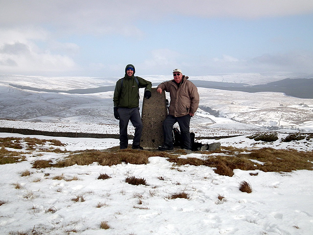 Park Fell trig - and two itinerants