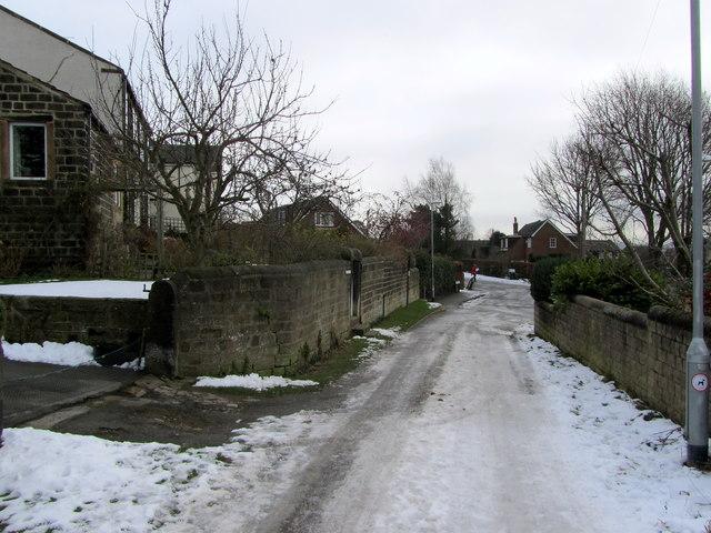 Kelcliffe Lane in Winter