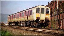 J3574 : Train near Bridge End, Belfast (3) by Albert Bridge