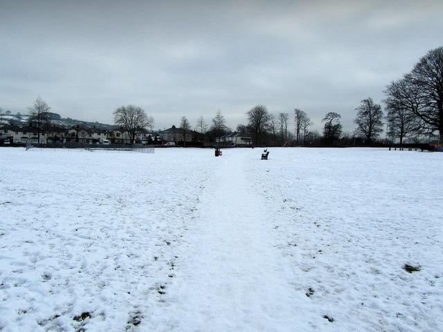 Recreation Ground in Winter, Menston