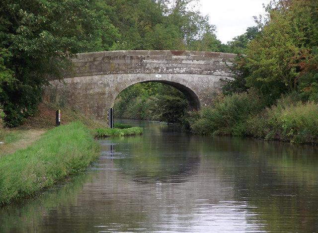 Cowley Double Road Bridge near Gnosall, Staffordshire