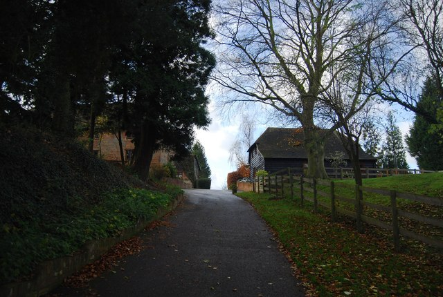 Byway approaching Smiths Hill House