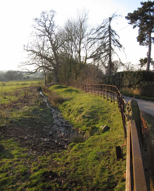 Ditch and lane, Leigh Court