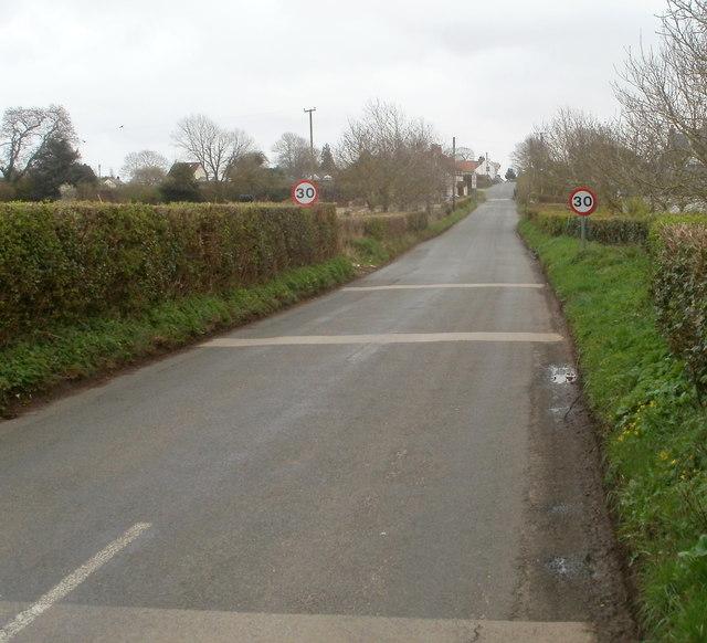30mph speed limit in Caerwent