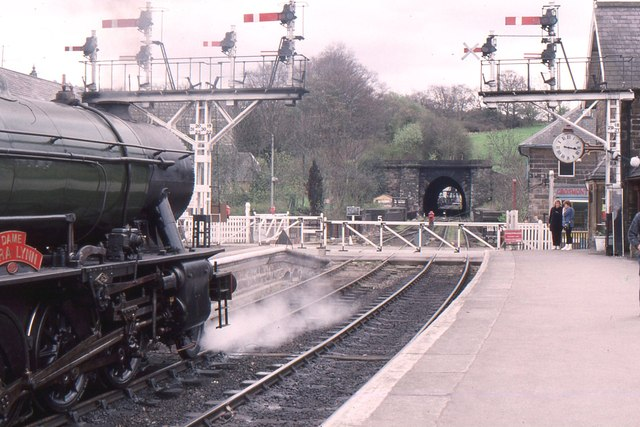 Grosmont station, North Yorkshire Moors railway, looking towards the tunnels
