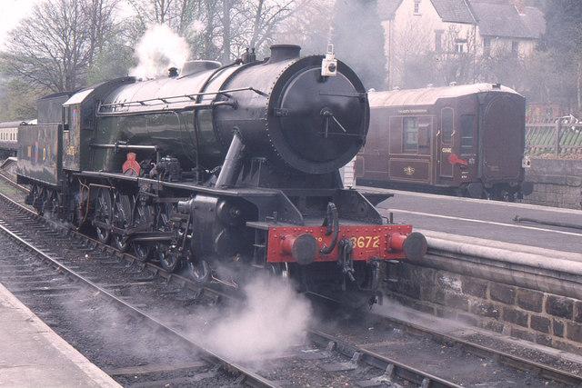 Grosmont station, North Yorkshire Moors railway, WD 2-10-0