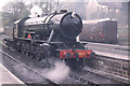 NZ8205 : Grosmont station, North Yorkshire Moors railway, WD 2-10-0 by Christopher Hilton