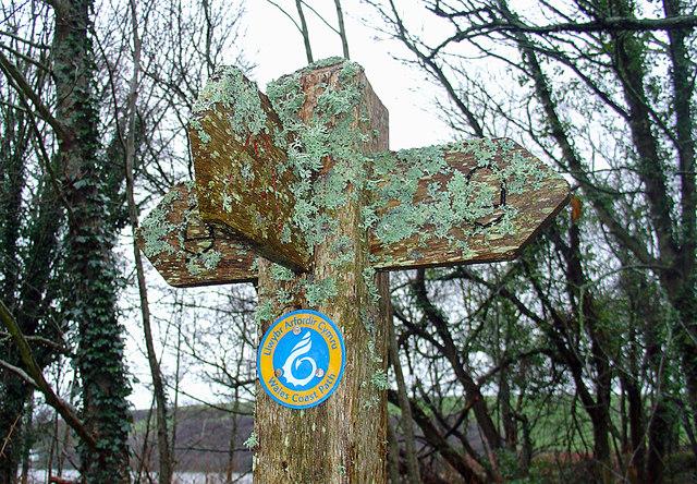 Coast Path sign: Newport