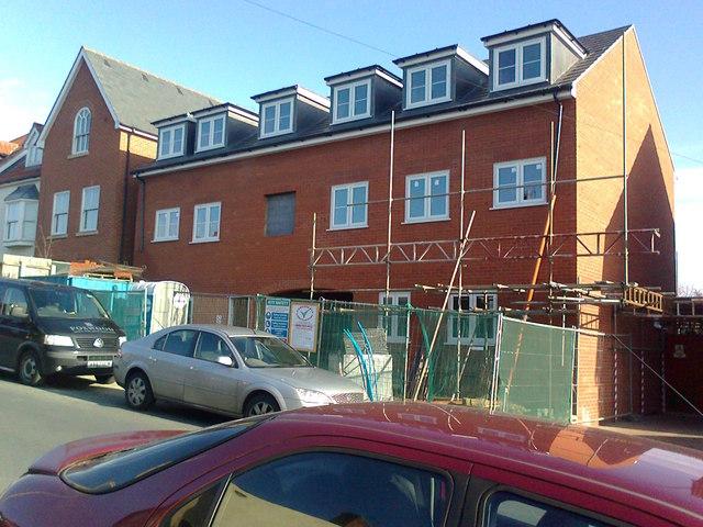 New flats, Alan Road, Ipswich