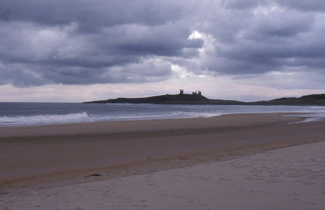 Embleton Bay, looking south to Dunstanburgh Castle