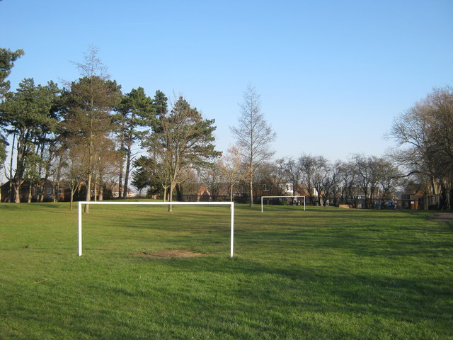 Junior football pitch in Bushell Hill Park, Darlington