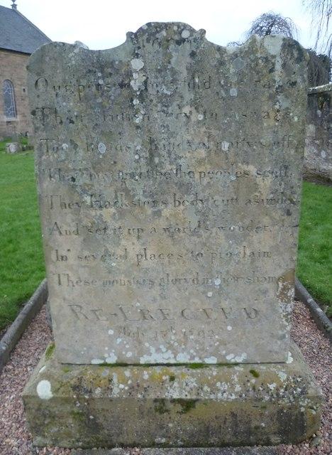 Covenanters Gravestone, Cupar Kirkyard