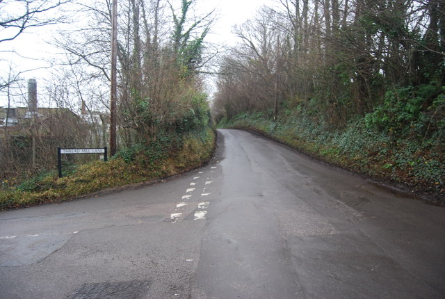 The end of Thread Mill Lane