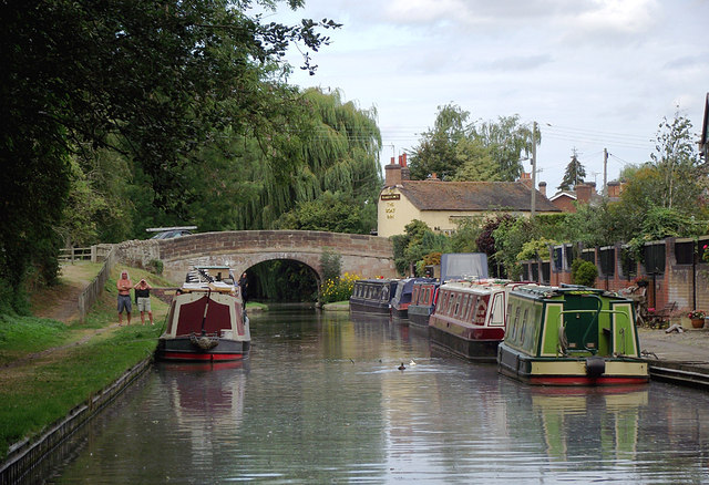 Shropshire Union Canal at Gnosall Heath, Staffordshire