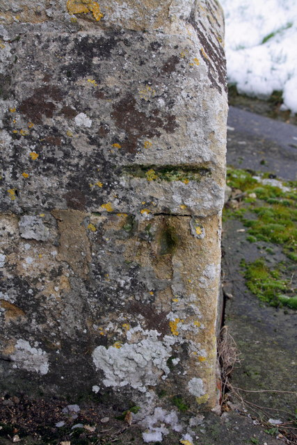 Benchmark on buttress of St Matthew's Church