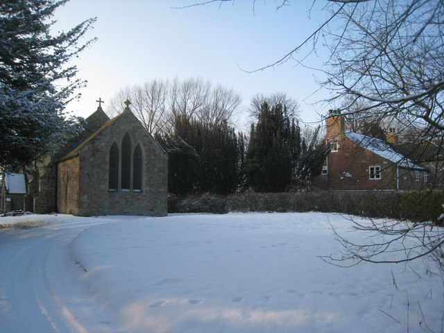 All Saints' church and the Old Rectory